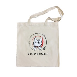 Gimbab Records/ Scribble Bag (Tote Bag) -Natural