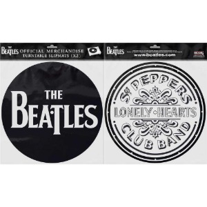 The Beatles/ Drop T Logo & Sgt Pepper Drum Slipmat Set
